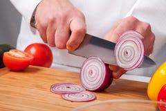 Salad preparation Royalty Free Stock Image