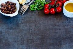 Salad preparation background Royalty Free Stock Photo