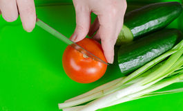 Salad preparation Royalty Free Stock Photos