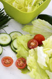 Salad preparation Royalty Free Stock Images