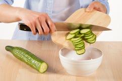 Salad preparation Stock Photography