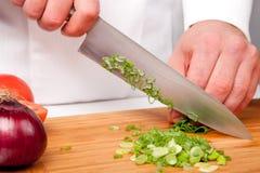Salad preparation Stock Image