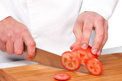 Salad preparation Stock Images