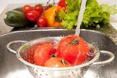 Salad preparing Stock Photo