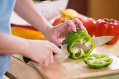 Salad Preperation Royalty Free Stock Image