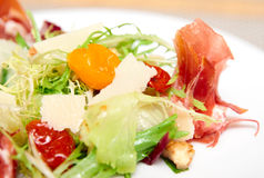 Salad with prosciutto ham Stock Image