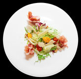 Salad with prosciutto ham Stock Photo
