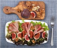 Salad with prosciutto Stock Image