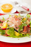 Salad with prosciutto,plum and figs Royalty Free Stock Photo