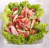 Salad with prosciuttol and fig Stock Image