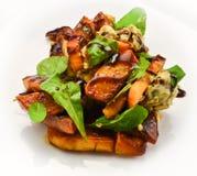 Salad with pumpkin Stock Image