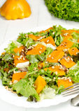 Salad with pumpkin Stock Images