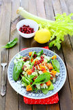 Salad with pumpkin and stem celery Royalty Free Stock Photos