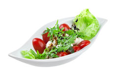 Salad with quail eggs Royalty Free Stock Photos