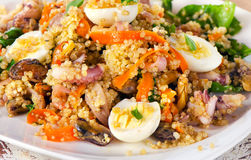 Salad with quinoa and seafood. Stock Photo