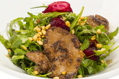 Salad of rabbit liver Stock Photo