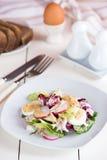 Salad with rabbit meat, radish Royalty Free Stock Photo