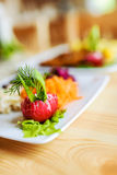 Salad of radish, carrot, beet and fenne Royalty Free Stock Images