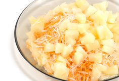 Salad of radish and carrot and pineapple Stock Photography