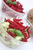 Salad of radish and cucumbers Stock Images