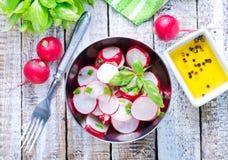 Salad with radish Stock Photos