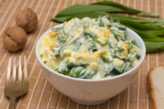 Salad of ramsons royalty free stock images