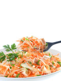 Salad with raw vegetables royalty free stock photo