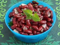 Salad of red beans Royalty Free Stock Image
