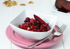 Salad with red beet Royalty Free Stock Image