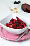 Salad with red beet Stock Images