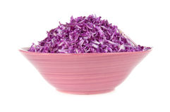 A salad of red cabbage in a bowl Stock Photo