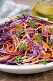 Salad of red cabbage Stock Photos