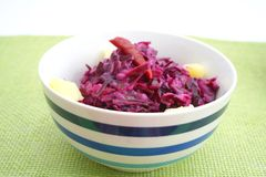 Salad of red cabbage Royalty Free Stock Photos