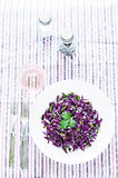 Salad of red cabbage with onions and greens Stock Image