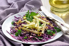Salad red coleslaw and apple Royalty Free Stock Image