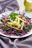 Salad red coleslaw and apple Royalty Free Stock Photos
