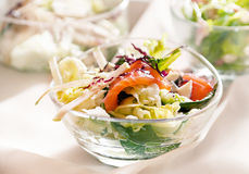 Salad with red fish Stock Photo