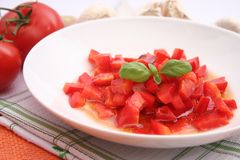 Salad of red paprika Stock Photography