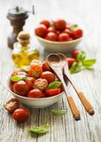 Salad with red tomato cherry Stock Photos