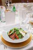 Salad on restaurant table Stock Photo