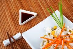 Salad of rice stock photo