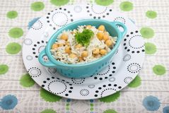 Salad of rice and chick peas Stock Photography