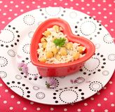 Salad of rice and chick peas Royalty Free Stock Photography