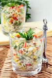 Salad with rice, parsley and vegetables Stock Photography