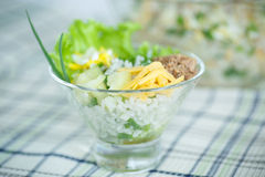 Salad with rice and tuna Stock Image