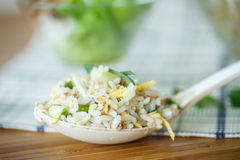 Salad with rice and tuna Stock Photography
