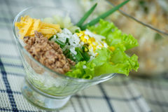 Salad with rice and tuna Royalty Free Stock Photography