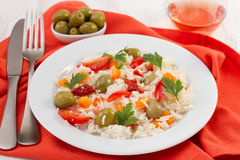 Salad with rice and vegetables Stock Image