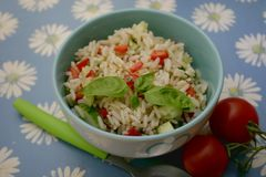 Salad of rice and vegetables Stock Photography