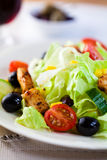 Salad with roast chicken royalty free stock image